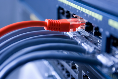 View of wires in a computer to represent SRO's IT & telecoms recruitment platform