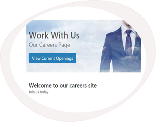 Example of a branded careers page to attract talent