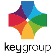 the key group logo for their case study with SRO
