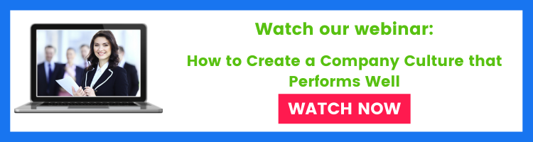 Webinar banner for creating a good company culture