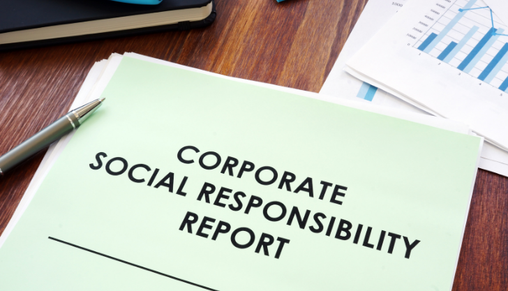 View of a workplace corporate social responsibility report
