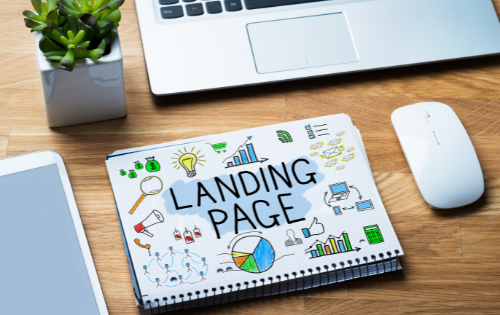 Landing page drawing representing google ads for recruiting
