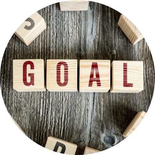 The word 'goal' written as part of teamwork culture
