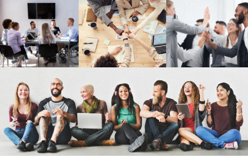 Team collaboration examples showing why diversity hiring is important