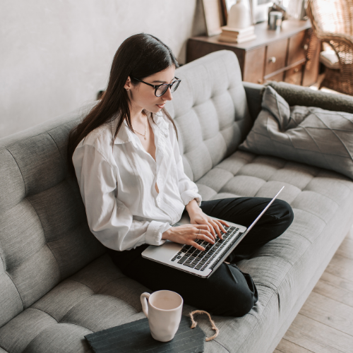 woman working from home to attract and retain talent