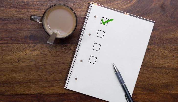 A checklist representing recruitment campaign checklists