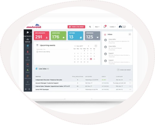 View of SRO applicant tracking system uk dashboard