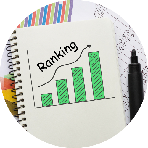 Drawing of a graph representing applicant ranking